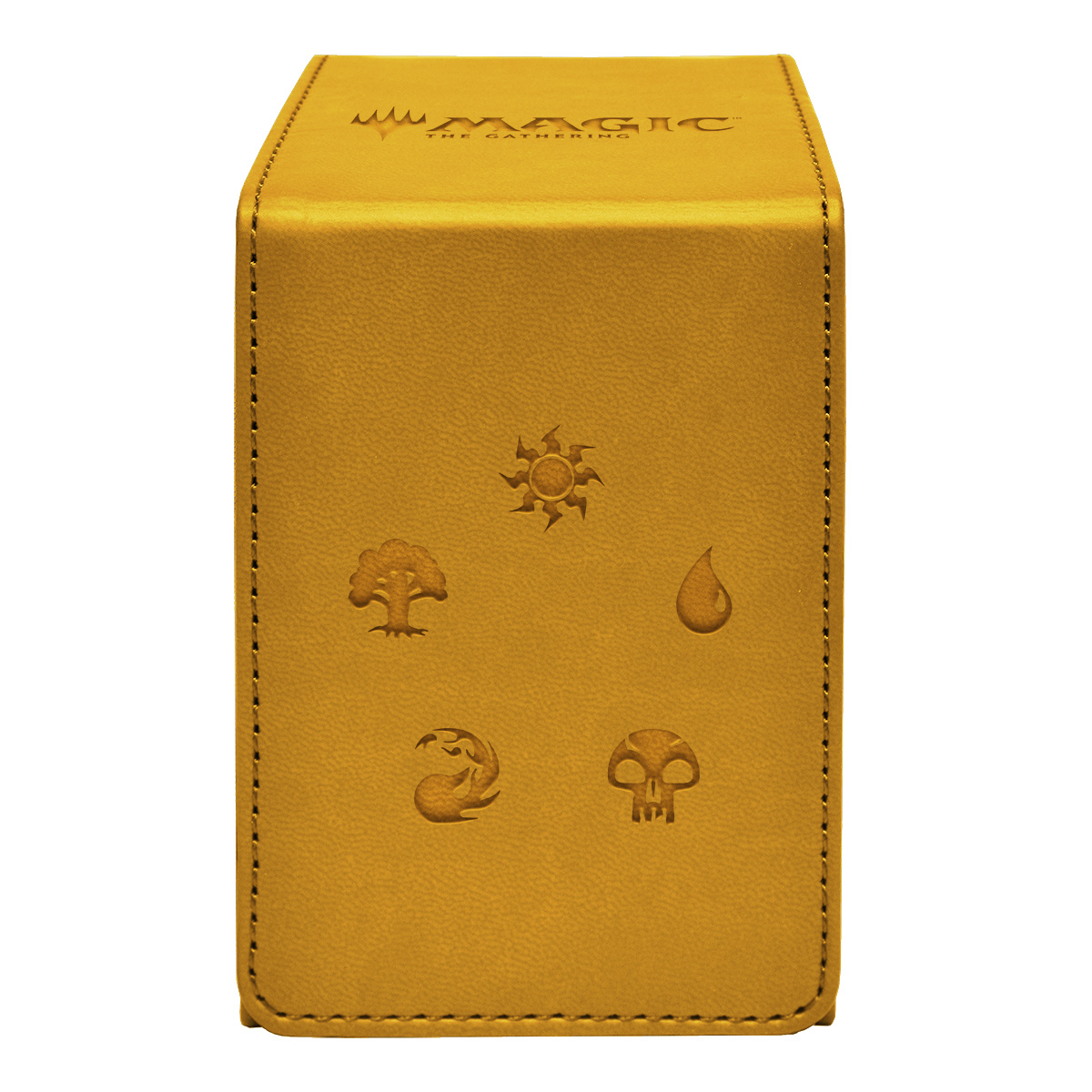 Buy Ultra Pro Magic Alcove Flip Box - Gold Mana Symbols