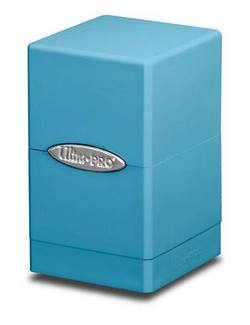 Buy Ultra Pro Light Blue Satin Tower Deck Box in AU New Zealand.