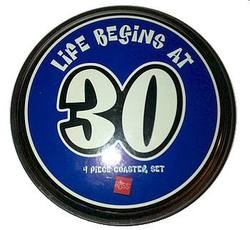 Buy Life Begins At 30  Coaster Set (4CT) in AU New Zealand.