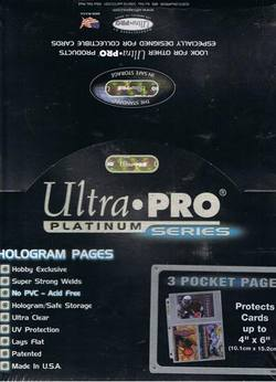 Buy Ultra Pro 3 Pocket Pages 100 Count Box in AU New Zealand.