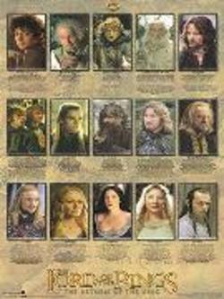 Buy Lord Of The Rings Biographies Poster in AU New Zealand.