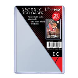 "Buy Ultra Pro 3-1/2"" X 5-1/8"" Toploader (25CT) Pack in AU New Zealand."