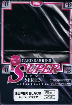 Buy KMC Super Black (80CT) Large Magic Size Sleeves in AU New Zealand.