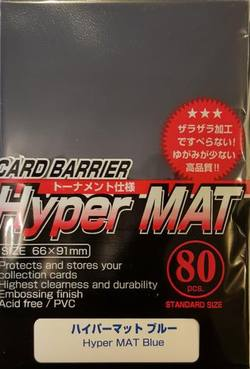 Buy KMC Hyper Mat Blue (80CT) Large Magic Size Sleeves in AU New Zealand.