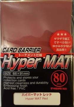 Buy KMC Hyper Mat Red (80CT) Large Magic Size Sleeves in AU New Zealand.