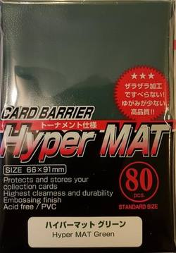 Buy KMC Hyper Mat Green (80CT) Large Magic Size Sleeves in AU New Zealand.