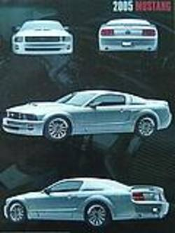 Buy 2005 Ford Mustang Silver Poster in AU New Zealand.