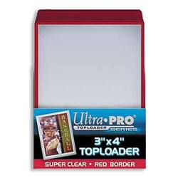 Buy Ultra Pro Rigid Top Loader (25CT) Red Border in AU New Zealand.
