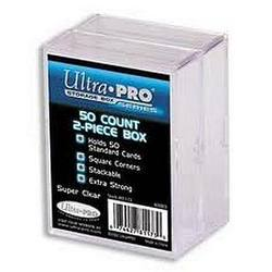 Buy Ultra Pro 2-Piece 50CT Clear Card Storage Box, 2 Pack in AU New Zealand.