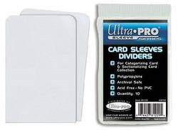Buy Ultra Pro White Card Sleeve Dividers in AU New Zealand.