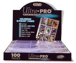 Buy Ultra Pro 9 Pocket Pages 100 Count Box (3 Hole) in AU New Zealand.