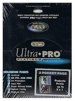 Buy Ultra Pro 2 Pocket Pages 100 Count Box in AU New Zealand.