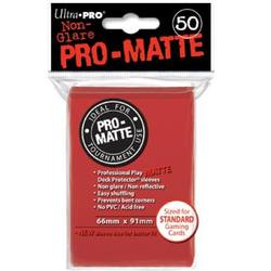 Buy Ultra Pro Pro-Matte Red (50CT) Regular Size Sleeves in NZ New Zealand.