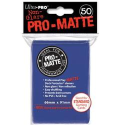 Buy Ultra Pro Pro-Matte Blue (50CT) Regular Size Sleeves in NZ New Zealand.