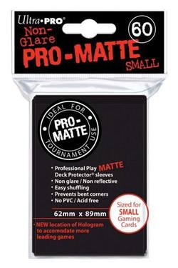 Buy Ultra Pro Pro-Matte Black (60CT) YuGiOh Size Sleeves in NZ New Zealand.