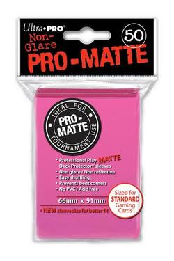 Buy Ultra Pro Pro-Matte Bright Pink (50CT) Regular Size Sleeves in AU New Zealand.