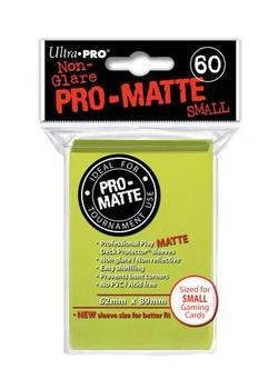 Buy Ultra Pro Pro-Matte Bright Yellow (60CT) YuGiOh Size Sleeves in AU New Zealand.