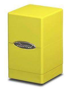 Buy Ultra Pro Bright Yellow Satin Tower Deck Box in AU New Zealand.