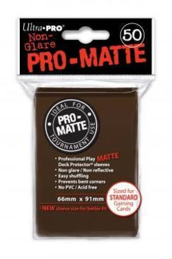Buy Ultra Pro Pro-Matte Brown (50CT) Regular Size Sleeves in AU New Zealand.