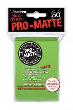Buy Ultra Pro Pro-Matte Lime Green (50CT) Regular Size Sleeves in NZ New Zealand.