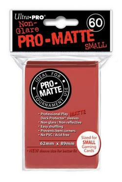 Buy Ultra Pro Pro-Matte Red (60CT) YuGiOh Size Sleeves in AU New Zealand.