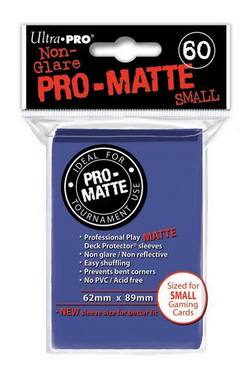 Buy Ultra Pro Pro-Matte Blue (60CT) YuGiOh Size Sleeves in AU New Zealand.