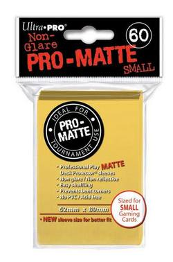 Buy Ultra Pro Pro-Matte Yellow (60CT) YuGiOh Size Sleeves in AU New Zealand.