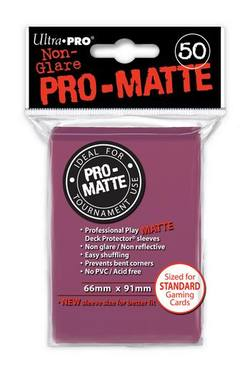 Buy Ultra Pro Pro-Matte Blackberry (50CT) Regular Size Sleeves in AU New Zealand.