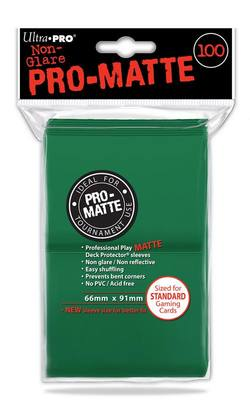 Buy Ultra Pro (100CT) Pro-Matte Green Standard Deck Protectors in AU New Zealand.