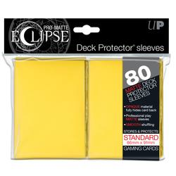 Buy Ultra Pro Pro-Matte Eclipse Large (80CT) Yellow Sleeves in AU New Zealand.