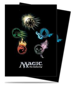 Buy Ultra Pro Magic Deck Protectors - Mana 4  Symbols Art Pic in NZ New Zealand.