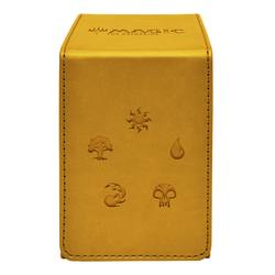 Buy Ultra Pro Magic Alcove Flip Box - Gold Mana Symbols in AU New Zealand.