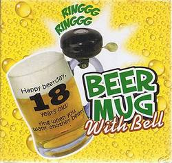 Buy Happy 18th Beerday Beer Mug with Bell in AU New Zealand.