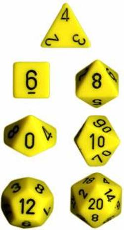Buy Opaque Yellow w/black Polyhedral 7-Die Set in AU New Zealand.