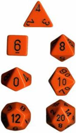 Buy Opaque Orange w/black Polyhedral 7-Die Set in AU New Zealand.