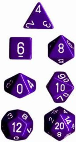 Buy Opaque Purple w/white Polyhedral 7-Die Set in AU New Zealand.