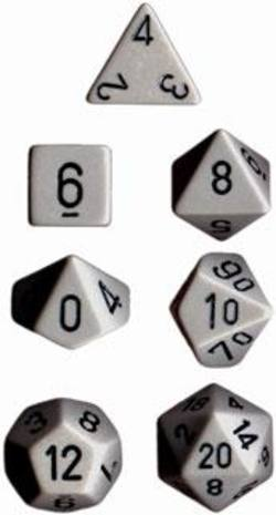 Buy Opaque Dark Grey w/black Polyhedral 7-Die Set in AU New Zealand.