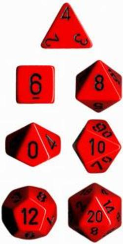 Buy Opaque Red w/black Polyhedral 7-Die Set in AU New Zealand.