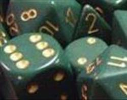 Buy Opaque Dusty Green w/copper Polyhedral 7-Die Set in AU New Zealand.