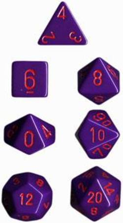 Buy Opaque Purple w/red Polyhedral 7-Die Set in AU New Zealand.