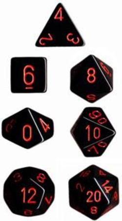 Buy Opaque Black w/red Polyhedral 7-Die Set in AU New Zealand.