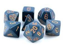 Buy Opaque Dusty Blue w/copper Polyhedral 7-Die Set in AU New Zealand.