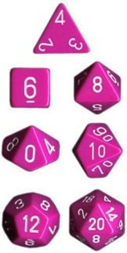 Buy Opaque Lt Purple w/white Polyhedral 7-Die Set in AU New Zealand.
