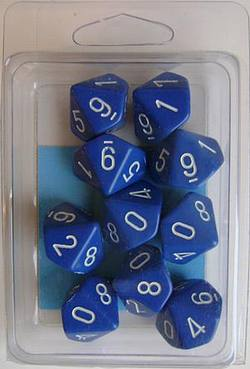 Buy Opaque D10 Blue with White (10CT) in AU New Zealand.