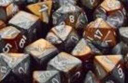 Buy Gemini Copper-Steel w/white Polyhedral 7-Die Set in AU New Zealand.