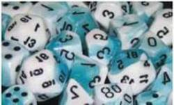 Buy Gemini Teal- White w/black Polyhedral 7-Die Set in AU New Zealand.