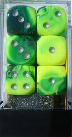 Buy Gemini D6 16mm Green-Yellow w/silver (12CT) in AU New Zealand.