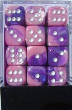Buy Gemini D6 12mm Pink-Purple w/white (36CT) in AU New Zealand.