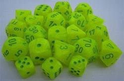 Buy Vortex Electric Yellow w/green Polyhedral 7-Die Set in AU New Zealand.