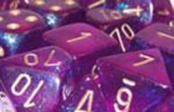 Buy Borealis Royal Purple w/gold Polyhedral 7-Die Set in AU New Zealand.